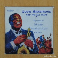 Discos de vinilo: LOUIS ARMSTRONG AND THE ALL STARS - ESO ES PARA MI + 2 - EP. Lote 128272823