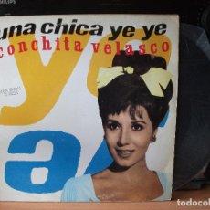 Discos de vinilo: CONCHITA VELASCO UNA CHICA YE YE MAXI SPAIN 1990 PDELUXE. Lote 128288715