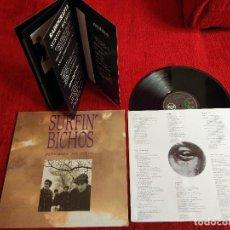 Discos de vinilo: SURFIN BICHOS FOTOGRAFO DEL CIELO LP CARPETA TROQUELADA Y LIBRETO INCLUIDO NUEVO A ESTRENAR . Lote 128291115