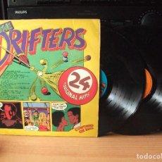 Discos de vinilo: THE DRIFTERS 24 ORIGINAL HITS LP UK 1975 PDELUXE . Lote 128291163