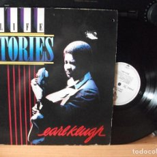 Discos de vinilo: EARL KLUGH LIFE STORIES LP GERMANY 1986 PDELUXE. Lote 128293635