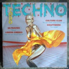 Discos de vinilo: TODO TECHNO SINGLE SIDED, COMPILATION, PROMO 1993 KRAFTWERK,ULTRAVOX + 2. Lote 128308911