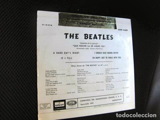 Discos de vinilo: BEATLES SINGLE EP PEGATINA COMPAÑIA EMI ODEON BARCELONA MEJOR CONJUNTO DEL AÑO 1964 BOLSA ORIGINAL - Foto 3 - 128313895