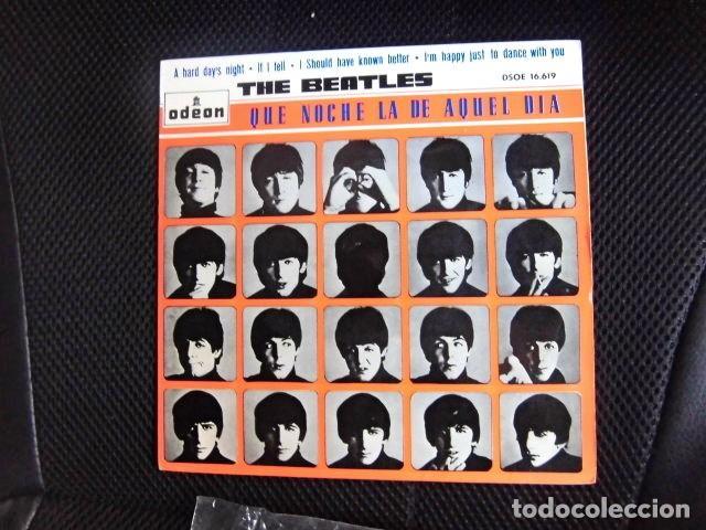 Discos de vinilo: BEATLES SINGLE EP PEGATINA COMPAÑIA EMI ODEON BARCELONA MEJOR CONJUNTO DEL AÑO 1964 BOLSA ORIGINAL - Foto 5 - 128313895