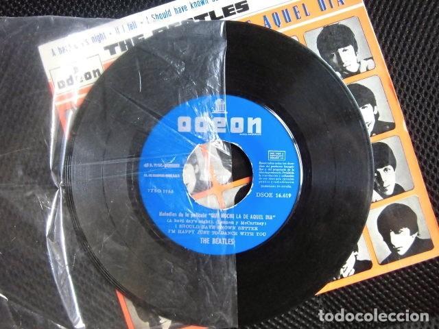 Discos de vinilo: BEATLES SINGLE EP PEGATINA COMPAÑIA EMI ODEON BARCELONA MEJOR CONJUNTO DEL AÑO 1964 BOLSA ORIGINAL - Foto 6 - 128313895