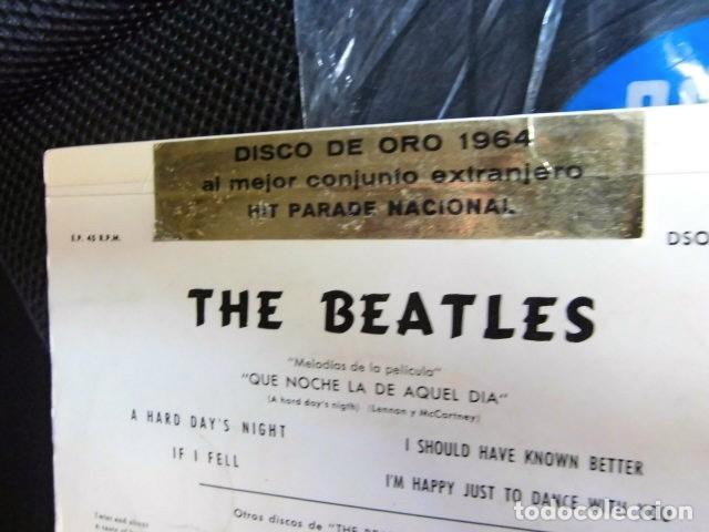 Discos de vinilo: BEATLES SINGLE EP PEGATINA COMPAÑIA EMI ODEON BARCELONA MEJOR CONJUNTO DEL AÑO 1964 BOLSA ORIGINAL - Foto 7 - 128313895