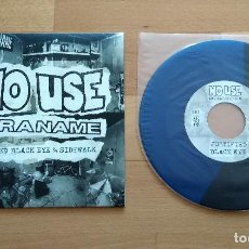 Discos de vinilo: SINGLE NO USE FOR A NAME JUSTIFIED BLACK EYE / SIDEWALK FAT WRECK CHORDS 2017 AZUL NEGRO PUNK NOFX. Lote 128316391