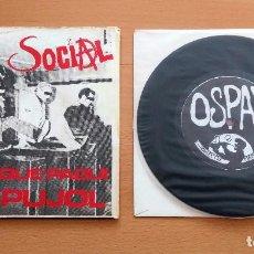 Discos de vinilo: SINGLE ODI SOCIAL QUE PAGUI PUJOL ORIGINAL PRESS COL.LECTIU MATXAKA 1986 PUNK HARDCORE SUBTERRANEAN. Lote 128317727