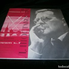 Discos de vinilo: DOBLE LP SHOSTAKOVICH SINFONÍA Nº 7DMITRI SHOSTAKOVICK AÑO 1980. Lote 128327739