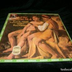 Discos de vinilo: LP MAHLER SINFONI Nº 4 EMMY LOOSE FILARMONICA ORQUESTA DE LONDRES POR PAUL KLETZKI AÑO 1979. Lote 128328931