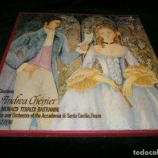 Discos de vinilo: LOTE DE DOS LP GIORDANO , ANDREA CHÉNIER DEL MONACO TEBALDI BASTIANINI GRAN ÓPERA AÑO 1972. Lote 128329399