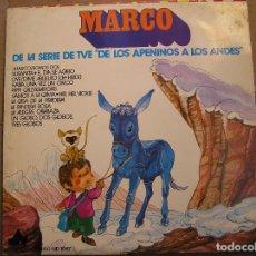 Discos de vinilo: MARCO/SOMOS DOS - DE LA SERIE DE TVE DE LOS APENINOS A LOS ANDES - IBL -. Lote 128333427
