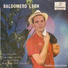 Discos de vinilo: BALDOMERO LEON - EL VAQUERO - EP DE VINILO - CUMBIA COLOMBIANA. Lote 128339859