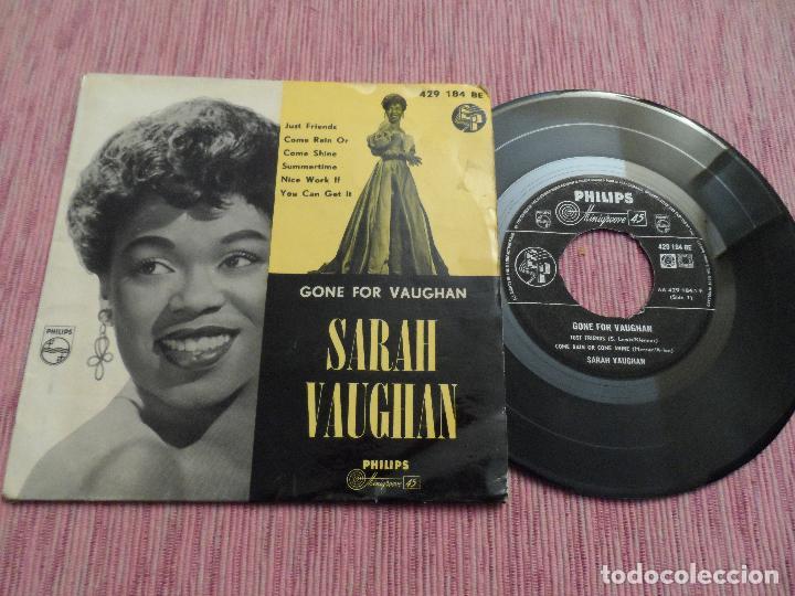 SARAH VAUHAN - GONE FOR VAUGHAN - JUST FRIENDS +3 (Música - Discos de Vinilo - EPs - Jazz, Jazz-Rock, Blues y R&B)