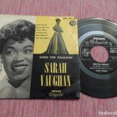 Discos de vinilo: SARAH VAUHAN - GONE FOR VAUGHAN - JUST FRIENDS +3 . Lote 128358347