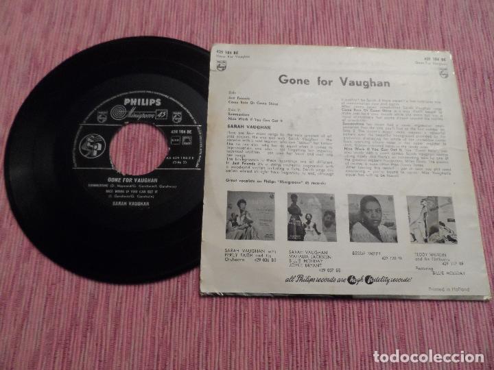 Discos de vinilo: SARAH VAUHAN - GONE FOR VAUGHAN - JUST FRIENDS +3 - Foto 2 - 128358347