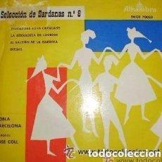 Discos de vinilo: COBLA BARCELONA - SELECCION DE SARDANAS 8 - EP ALHAMBRA EMGE 70023 (PESCADORS, BONS CATALANS + 3). Lote 128360147