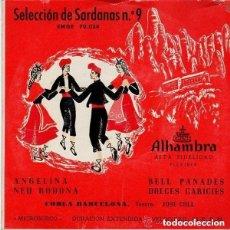 Discos de vinilo: COBLA BARCELONA - SELECCION DE SARDANAS 9 (ANGELINA + 3 TEMAS) - EP ALHAMBRA EMGE 70024. Lote 128360711