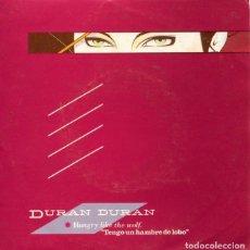 Discos de vinilo: DURAN DURAN / TENGO UN HAMBRE DE LOBO / RECUERDOS SIN IMPORTANCIA (SINGLE 1981). Lote 128363299