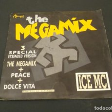 Discos de vinilo: ICE MC. - THE MEGAMIX - SINGLE METROPOL 1990 - P1. Lote 128364191