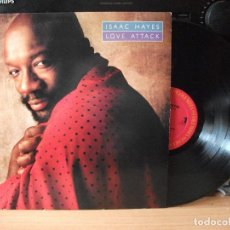 Discos de vinilo: ISAAC HAYES LOVE ATTACK LP USA 1988 PDELUXE. Lote 128369275