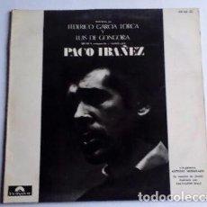 Discos de vinilo: PACO IBAÑEZ ( POEMAS DE GARCIA LORCA Y LUIS DE GONGORA ) CONTRAPORTADA DIBUJO DE DALÍ 1976-SPAIN. Lote 128377211