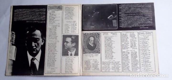 Discos de vinilo: PACO IBAÑEZ ( POEMAS DE GARCIA LORCA Y LUIS DE GONGORA ) CONTRAPORTADA DIBUJO DE DALÍ 1976-SPAIN - Foto 2 - 128377211