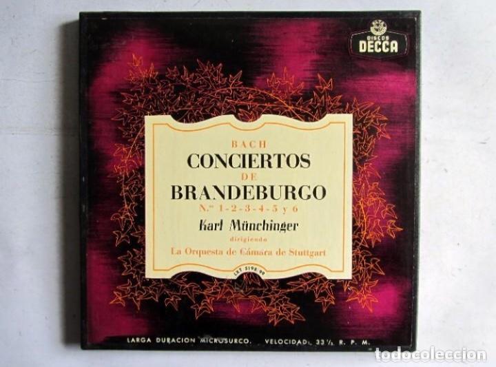 BACH CONCIERTOS DE BRANDEBURGO ESTUCHE CON 2 LPS. DECCA. ORQUESTA DE CAMARA DE STUTTGART. (Música - Discos - LP Vinilo - Clásica, Ópera, Zarzuela y Marchas)