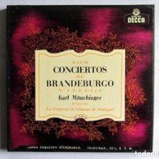 Discos de vinilo: BACH CONCIERTOS DE BRANDEBURGO ESTUCHE CON 2 LPS. DECCA. ORQUESTA DE CAMARA DE STUTTGART.. Lote 128377463