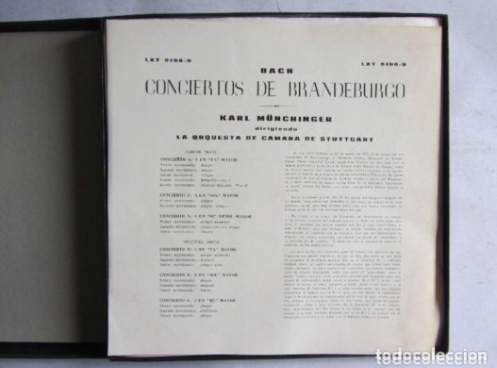 Discos de vinilo: BACH CONCIERTOS DE BRANDEBURGO ESTUCHE CON 2 LPS. DECCA. ORQUESTA DE CAMARA DE STUTTGART. - Foto 2 - 128377463