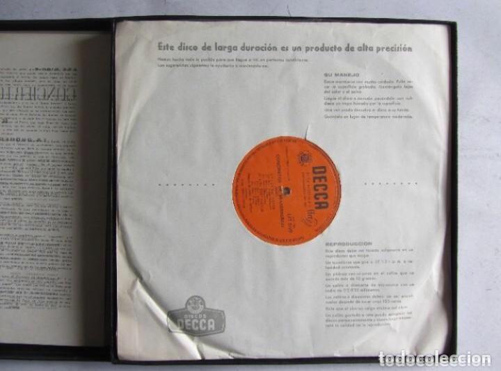 Discos de vinilo: BACH CONCIERTOS DE BRANDEBURGO ESTUCHE CON 2 LPS. DECCA. ORQUESTA DE CAMARA DE STUTTGART. - Foto 3 - 128377463
