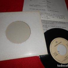 Discos de vinilo: EDUARDO RODRIGO MULATA/SUDAMERICANO 7'' 1993 HISPAMUSIC + HOJA PROMO. Lote 128390919
