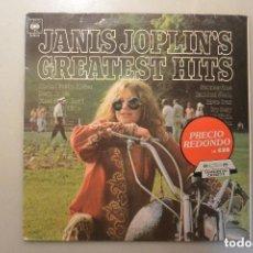 Discos de vinilo: DISCO LP GREATEST HITS JANIS JOPLIN. Lote 128391755