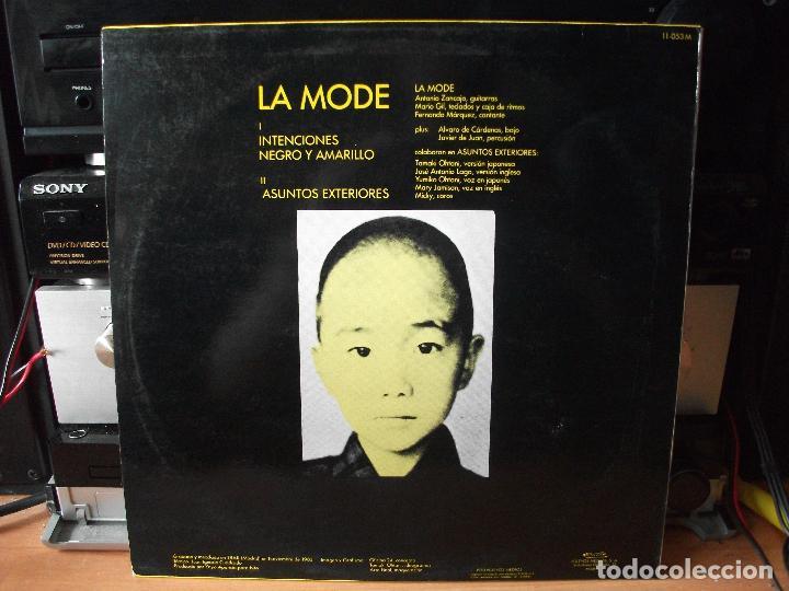 Discos de vinilo: LA MODE INTENCIONES MAXI SPAIN 1983 PDELUXE - Foto 2 - 128391835