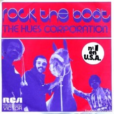 Discos de vinilo: THE HUES CORPORATION / ROCK THE BOAT / ALL GOIN' DOWN TOGETHER (SINGLE 1974). Lote 128407295