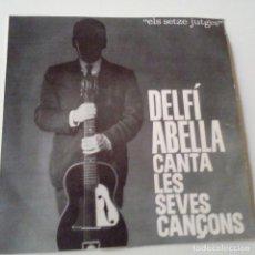 Discos de vinilo: DELFI ABELLA CANTA LES SEVES CANÇONS - CAP EL FUTBOL - EP 1962 + ENCARTE - COMO NUEVO.. Lote 128413851