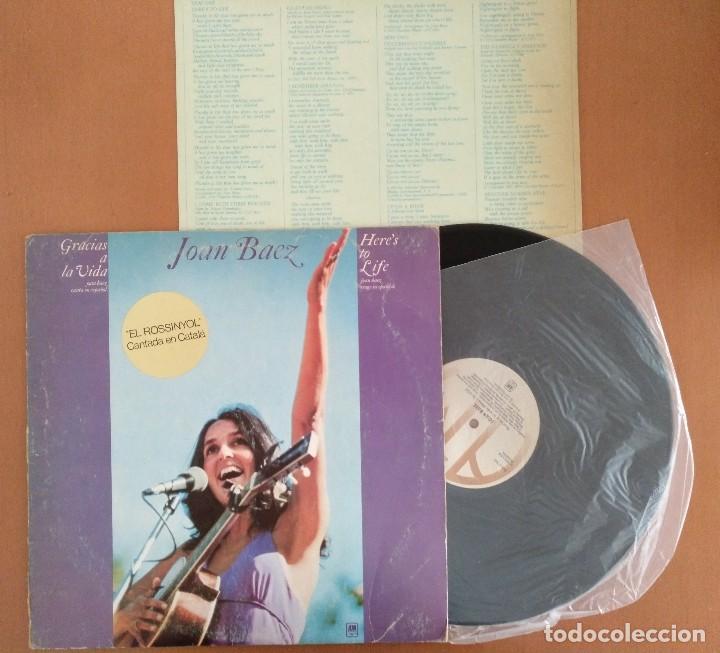 Discos de vinilo: JOAN BAEZ LP GRACIAS A LA VIDA EL ROSSINYOL CANTADA EN CATALAN - Foto 4 - 128414539