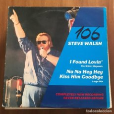 Discos de vinilo: STEVE WALSH - I FOUND LOVIN' - MAXISINGLE RAMS HORN 1987. Lote 128414671