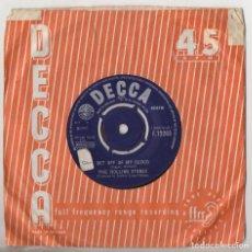 Discos de vinilo: THE ROLLING STONES GET OFF OF MY CLOUD 1965 1ST PRESS UK SINGLE DECCA F.12263. Lote 128419203