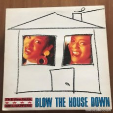 Discos de vinilo: WEE PAPA GIRL RAPPERS - BLOW THE HOUSE DOWN - MAXISINGLE JIVE UK 1988. Lote 128421575