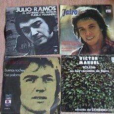 Discos de vinilo: LOTE DE 30 SINGLES INTERPRETES Y GRUPOS ESPAÑOLES DE LOS 60 A LOS 80.. Lote 128423159