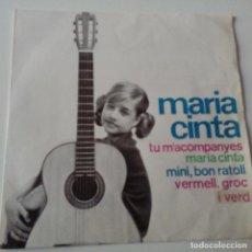 Discos de vinilo: MARIA CINTA - TU M'ACOMPANYES - EP 1964- VINILO EXC. ESTADO.. Lote 128423455