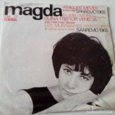 Discos de vinilo: MAGDA- LES MUNTANYES HAN FLORIT/ AMIGUES MEVES - EP 1965 + ENCARTE - VINILO EXC. ESTADO.. Lote 128424387