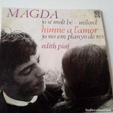 Discos de vinilo: MAGDA - MILORD - EP 1966 + ENCARTE - VINILO EXC. ESTADO.. Lote 128425091