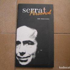 Discos de vinilo: SERRAT PERSONAL - 2002 VERSOS EN LA BOCA - CD + LIBRETO - SONY&BMG 2002 - P -. Lote 128426231