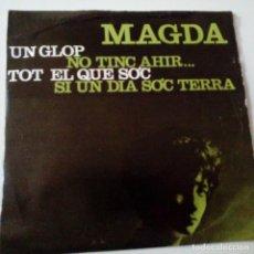 Discos de vinilo: MAGDA- UN GLOP - EP 1964 + ENCARTE - FIRMADO POR MAGDA EN 1964.. Lote 128429615