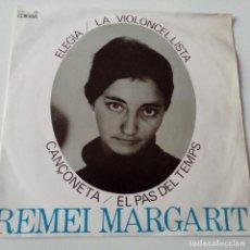 Discos de vinilo: REMEI MARGARIT - LA VIOLONCEL.LISTA - EP 1964 + ENCARTE - EXC. ESTADO.. Lote 128431083