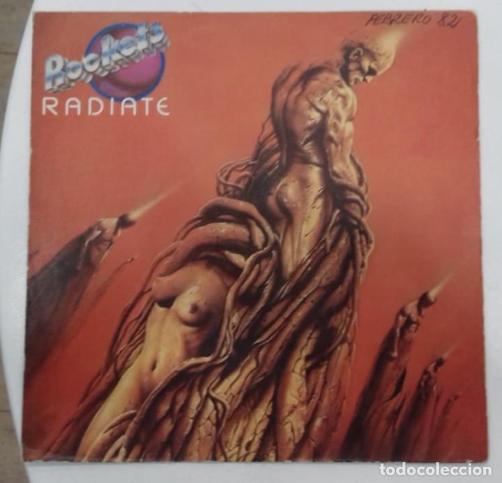 ROCKETS - RADIATE - SG PROMO - ED ESPAÑOLA 1982 (Música - Discos - Singles Vinilo - Electrónica, Avantgarde y Experimental)