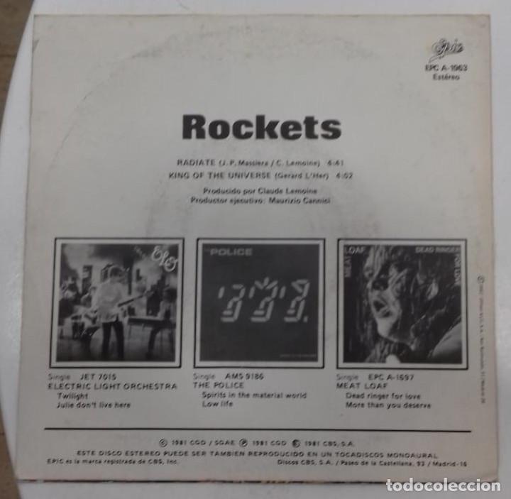Discos de vinilo: ROCKETS - RADIATE - SG PROMO - ED ESPAÑOLA 1982 - Foto 2 - 128439619