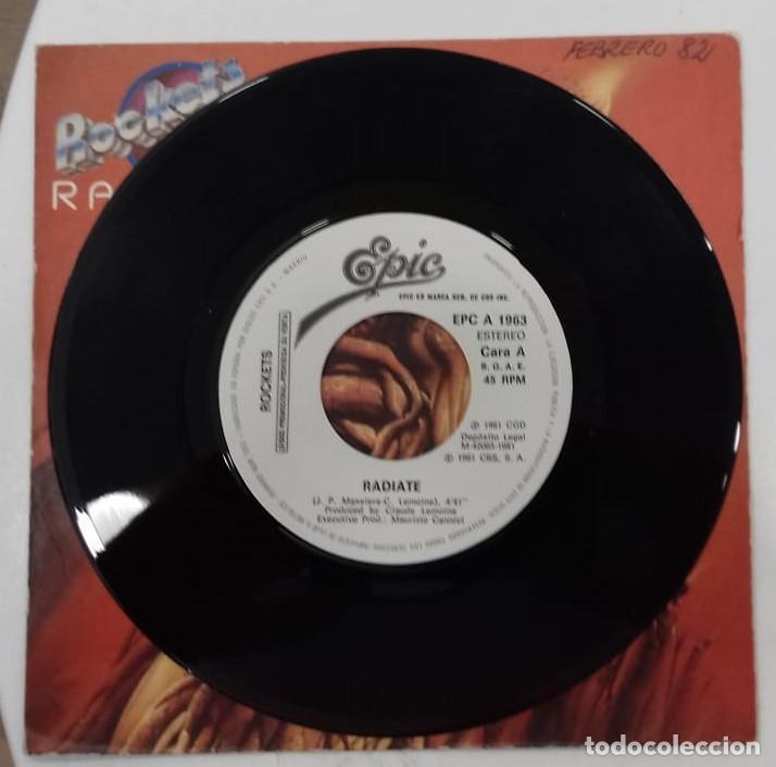 Discos de vinilo: ROCKETS - RADIATE - SG PROMO - ED ESPAÑOLA 1982 - Foto 3 - 128439619